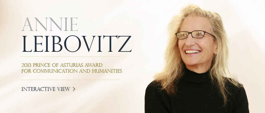 Annie Leibovitz, 2013 Prince of Asturias Award for Communication and Humanities
