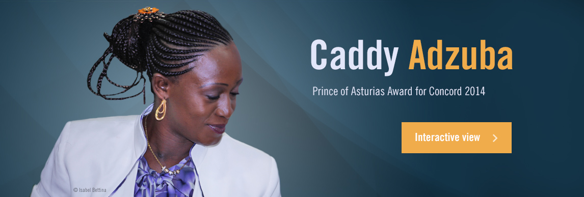 Caddy Adzuba, 2014 Prince of Asturias Award for Concord