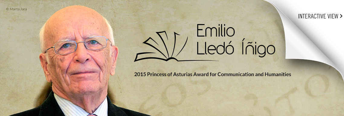 Emilio Lledó Inigo, 2015 Princess of Asturias Award for Communication and Humanities
