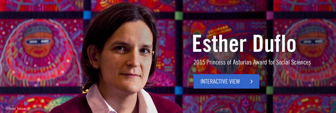 Esther Duflo, 2015 Princess of Asturias Award for Social Sciences