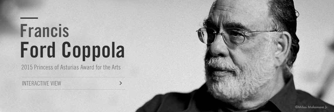 Francis Ford Coppola, 2015 Princess of Asturias Award  for the Arts