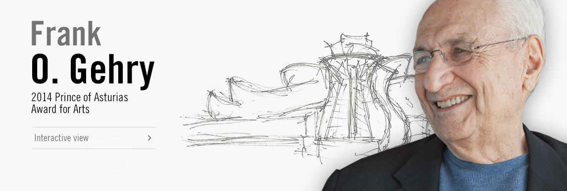 Frank O.Gehry, 2014 Prince of Asturias Award for Arts