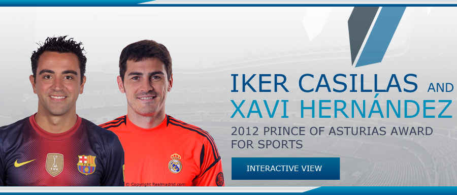 Iker Casillas and Xavier Hernández