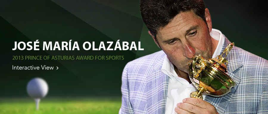 José María Olazábal, 2013 Prince of Asturias Award for Sports