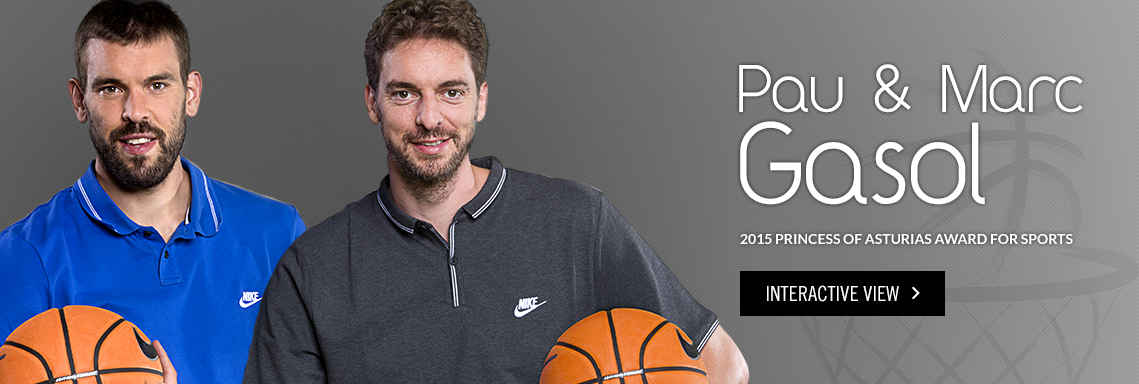 Pau and Marc Gasol, 2015 Princess of Asturias Award for Sports