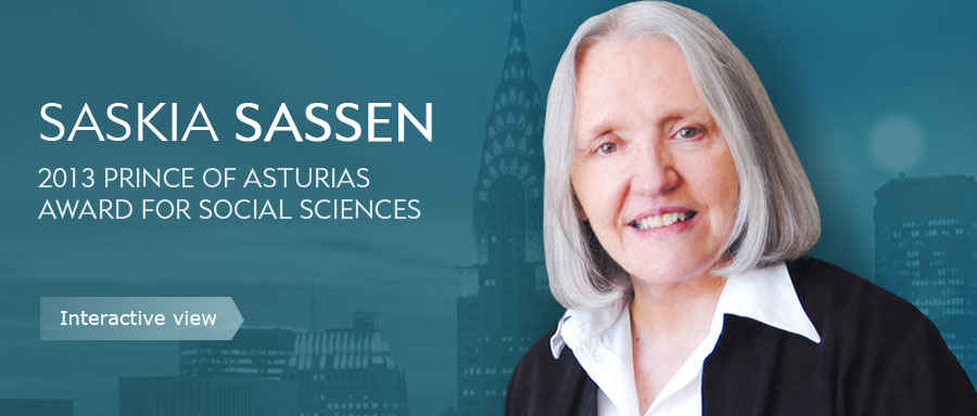 Saskia Sassen, 2013 Prince of Asturias Award for Social Sciences