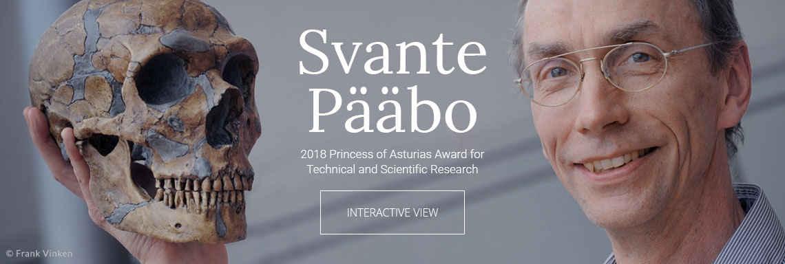Svante Pääbo - 2018 Princess of Asturias Award for Technical and Scientific Research