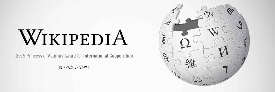 Wikipedia, 2015 Princess of Asturias Award for International Cooperation