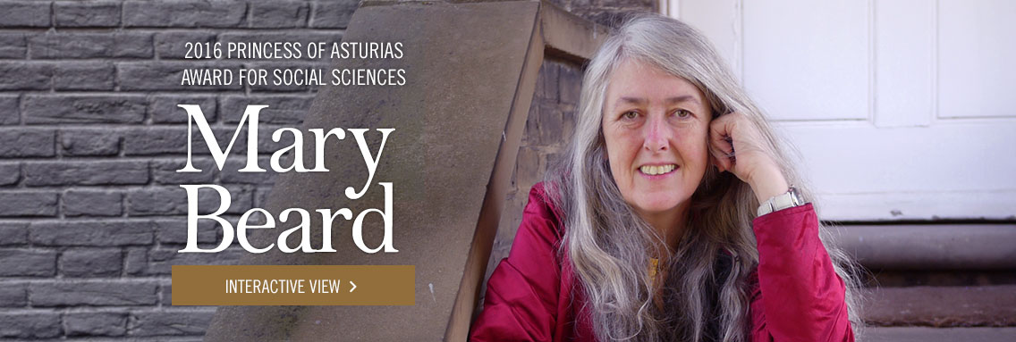 Mary Beard - 2016 Princess of Asturias Award for Social Sciences