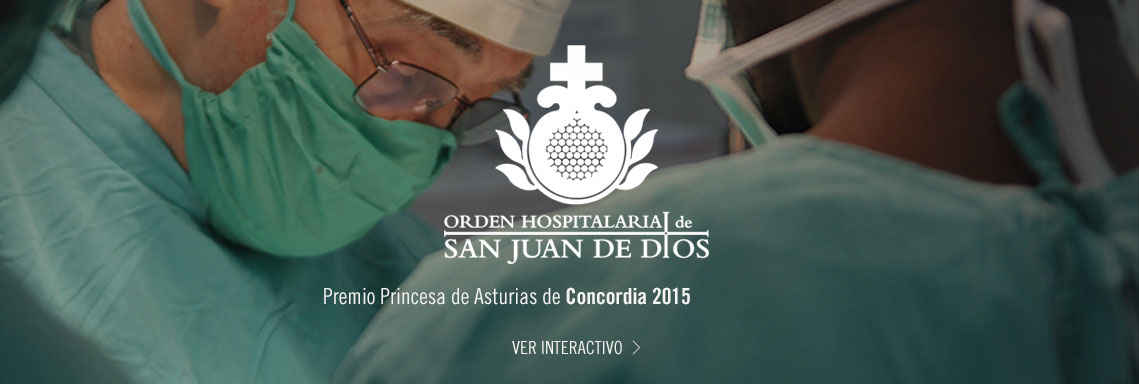 Orden Hospitalaria de San Juan de Dios, Premio Princesa de Asturias de la Concordia 2015