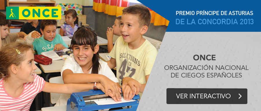ONCE, Premio Príncipe de Asturias de la Concordia 2013