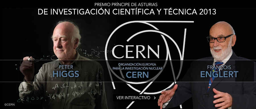 Peter Higgs, François Englert y el CERN, Premio Príncipe de Asturias de Investigación Científica y Técnica 2013