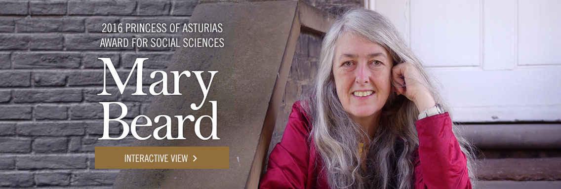 Mary Beard - Premio Princesa de Asturias de Ciencias Sociales 2016