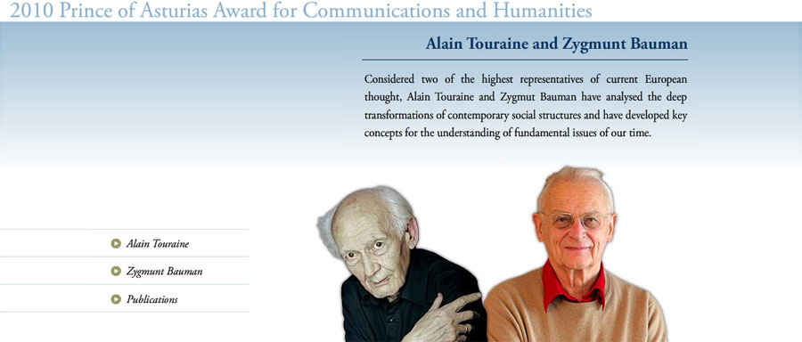 Alain Touraine and Zygmunt Bauman