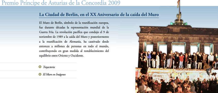 Ciudad de Berlín en el XX Aniversario de la caída del muro