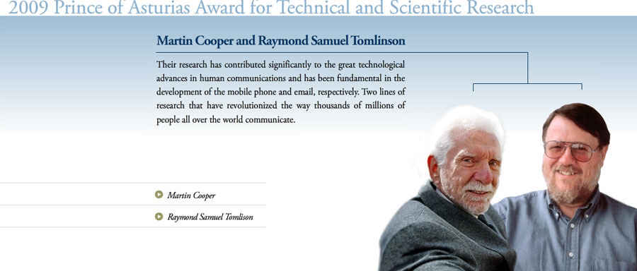 Martin Cooper and Raymond Samuel Tomlinson