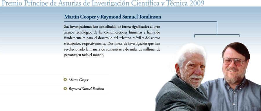 Martin Cooper y Raymond Samuel Tomlinson