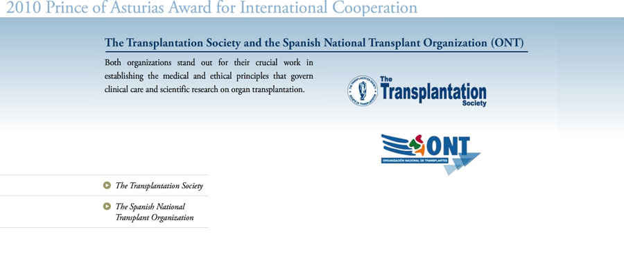 The Transplantation Society and the Spanish National Transplant Organization