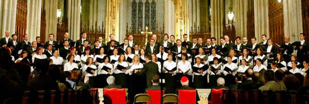 Foundation Choir performance at ther St. Patrick's Cathedral in New York