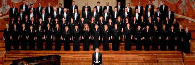 Coro de la Fundación, en el Palau de la Música Catalana.