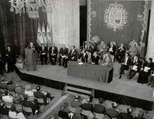 Acto de constitución de la Fundación Príncipe de Asturias.