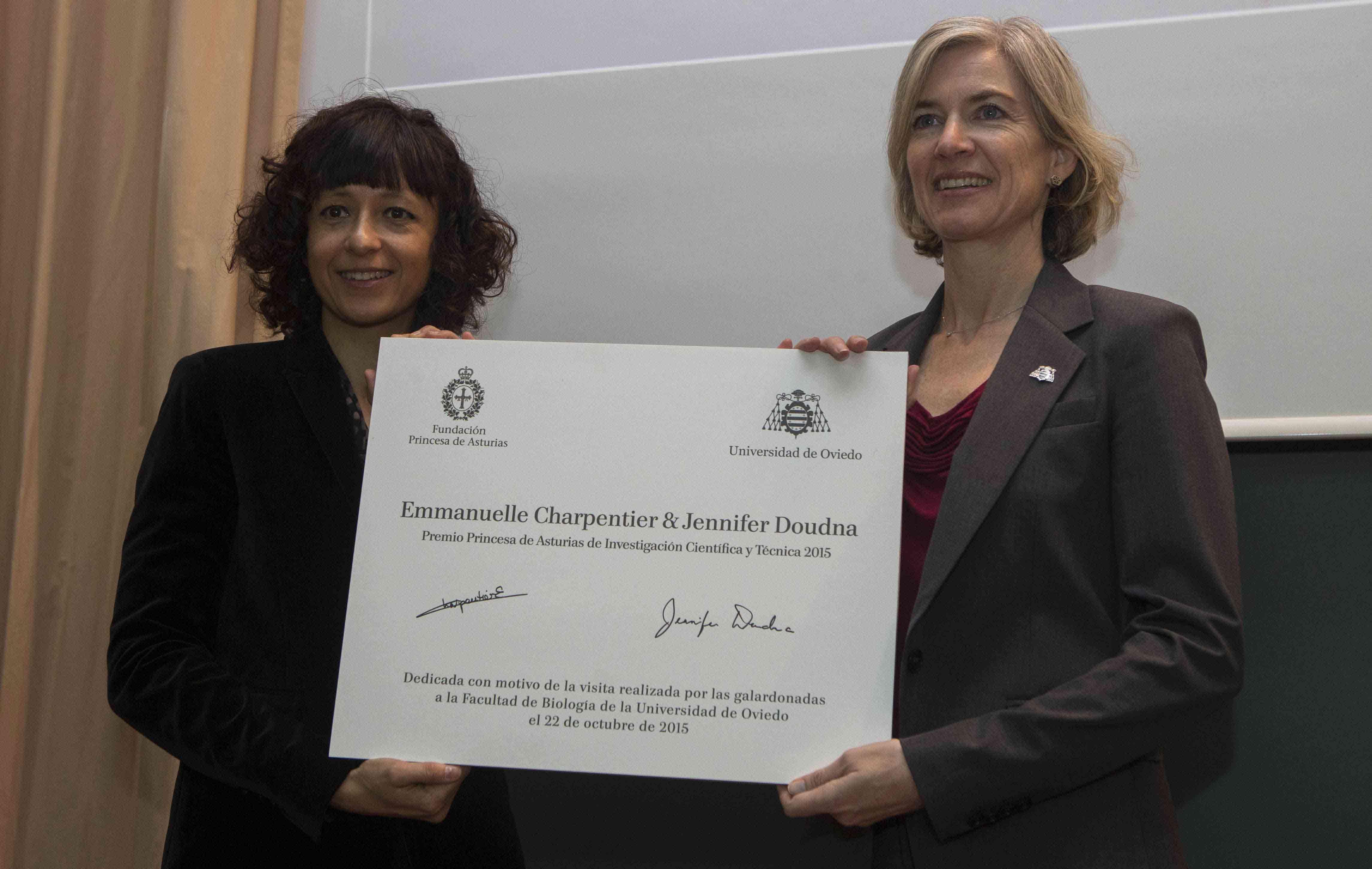 Conferencia Jennifer Doudna y Emmanuelle Charpentier