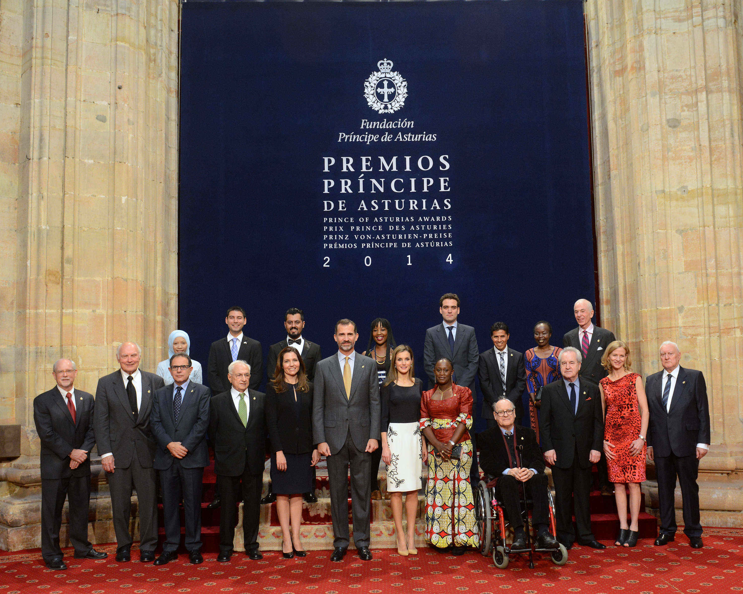 Audience of TM The King and The Queen of Spain with the 2014 Laureates
