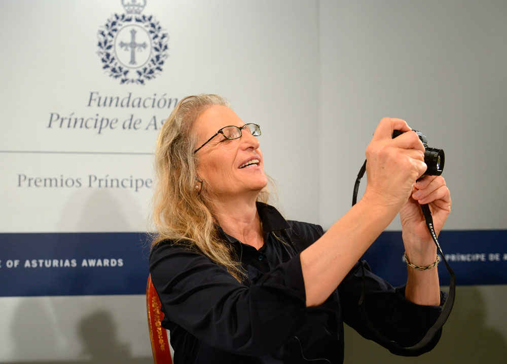 Press conference with Annie Leibovitz