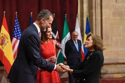 Audience held by TM the King and Queen of Spain with the Laureates