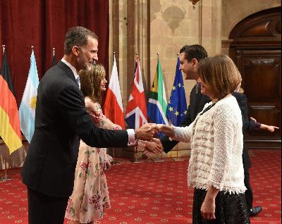 Audience held by TM The King and Queen of Spain with the 2017 Laureates