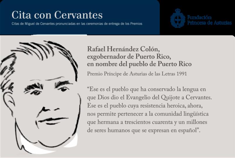 Rafael Hernández Colón, exgobernador de Puerto Rico, en nombre del pueblo de Puerto Rico
