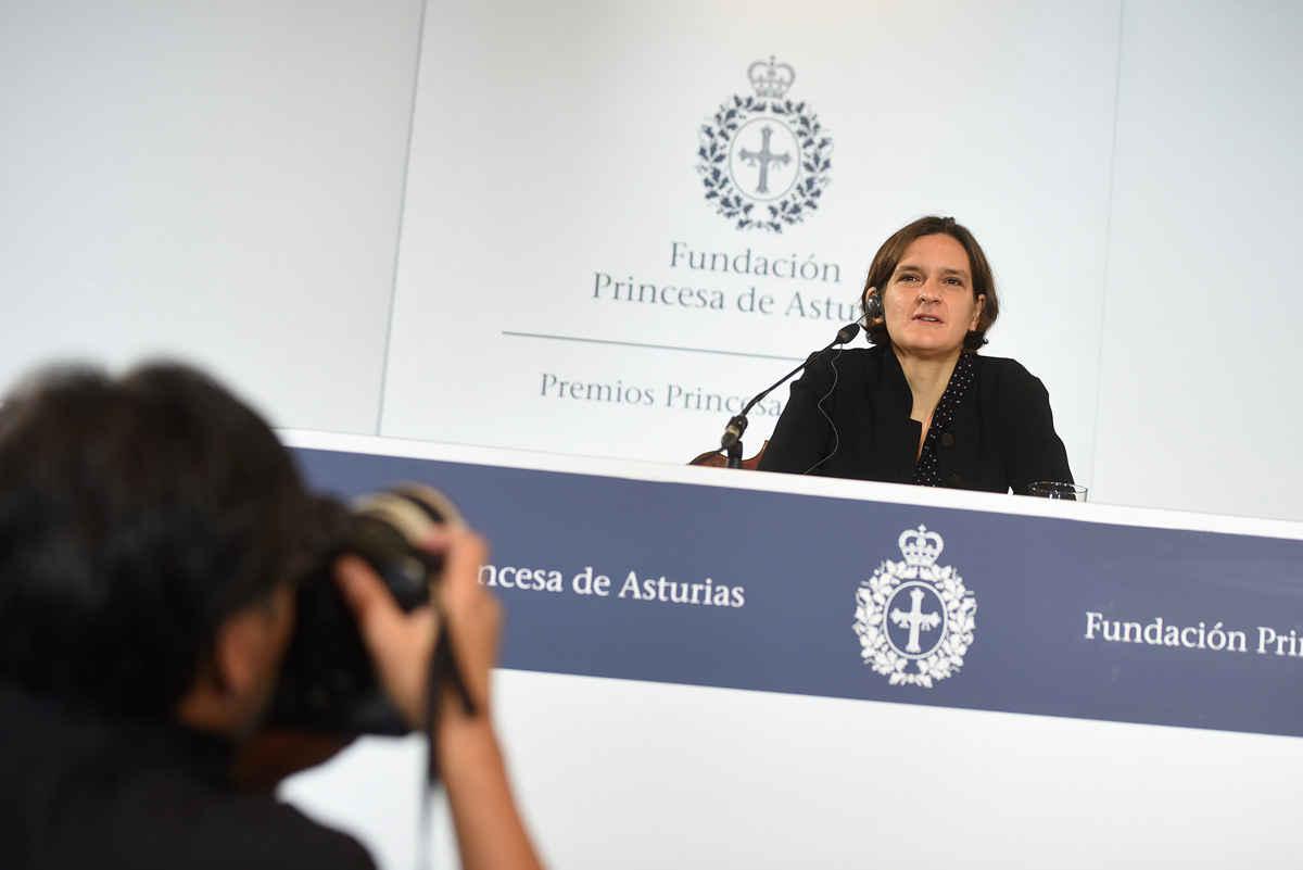 Rueda de prensa de Esther Duflo