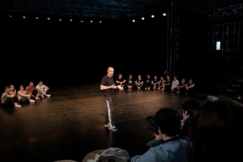 Theatre acting masterclass with actor Antonio Gil for drama students