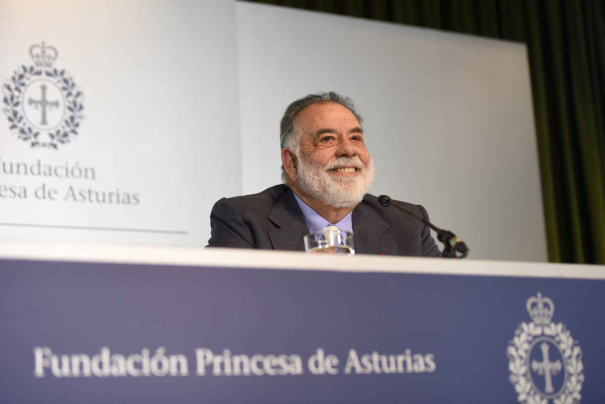Press conference with Francis Ford Coppola