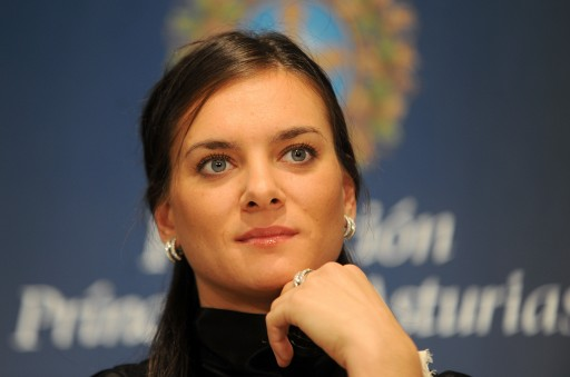 Press conference with Yelena Isinbayeva