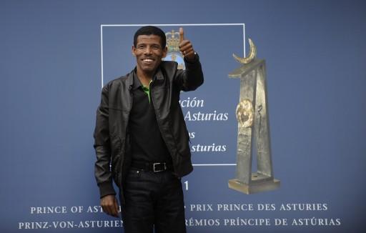 Arrival of Haile Gebrselassie