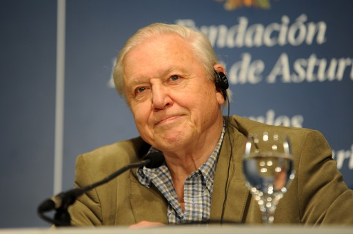 Press conference with David Attenborough