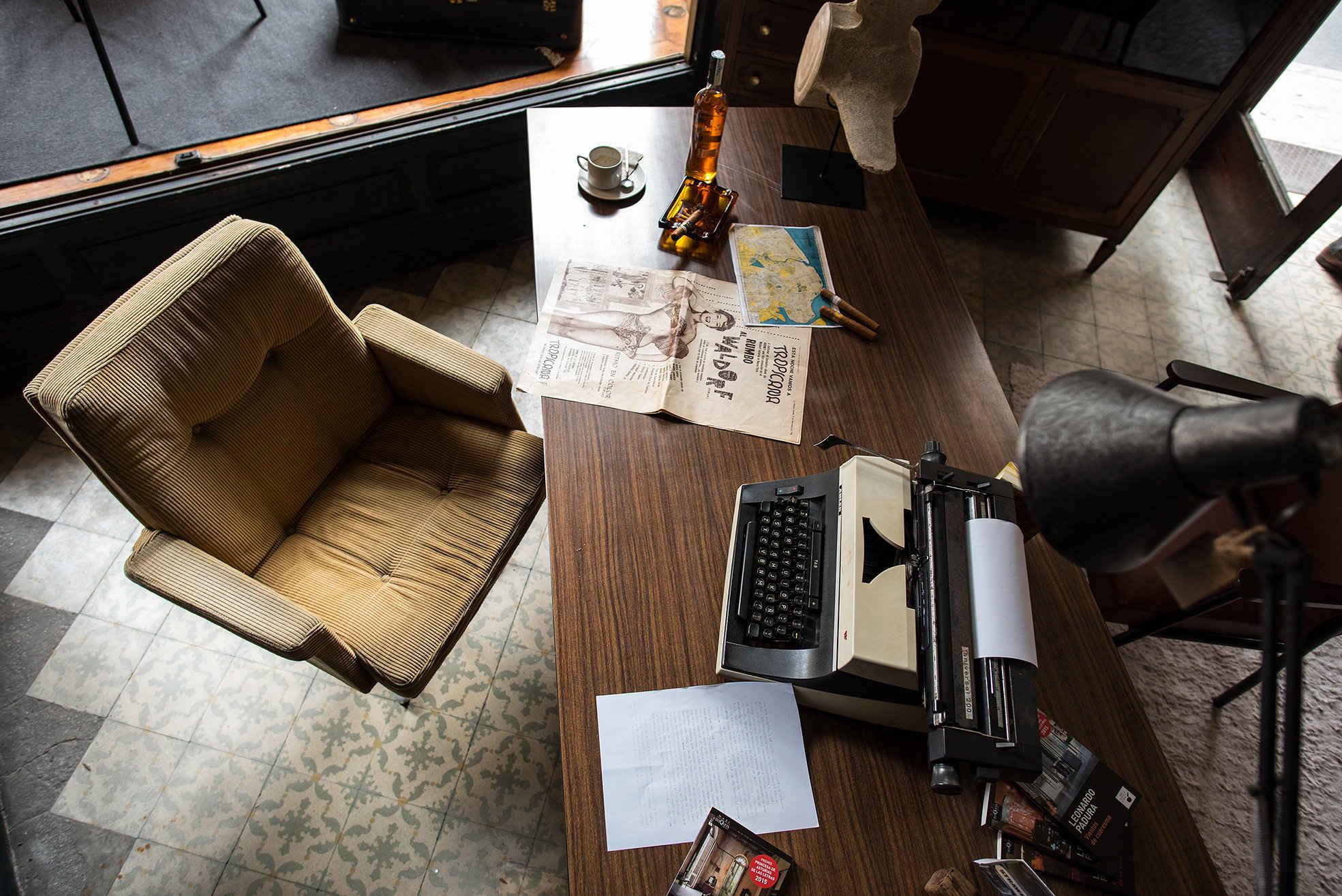 Recorrido de la yincana literaria en torno a la obra del escritor Leonardo Padura