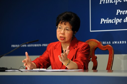 Margaret Chan at her press conference