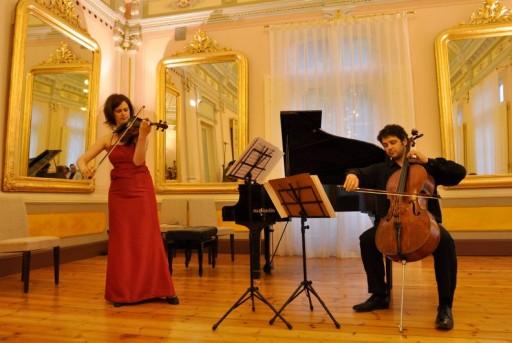 Concierto de profesores de los Cursos de Verano 2009 en el Salón de los Espejos del Real Balneario de Las Caldas.