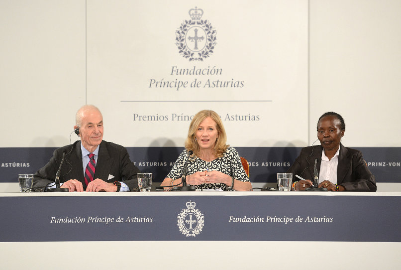 Press conference with the representatives of The New York City Marathon, George Hirsch, Mary Wittenberg and Tegla Leroupe