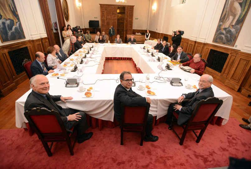 Desayuno de trabajo con Avelino Corma, M. Davis y Galen D. Stucky