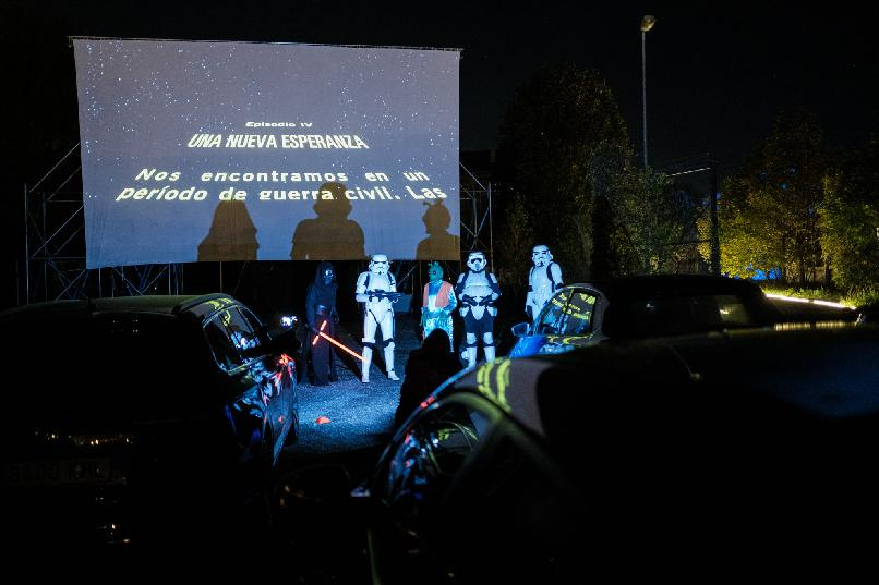 Drive-in Cinema. Star Wars. Episode IV: A new hope