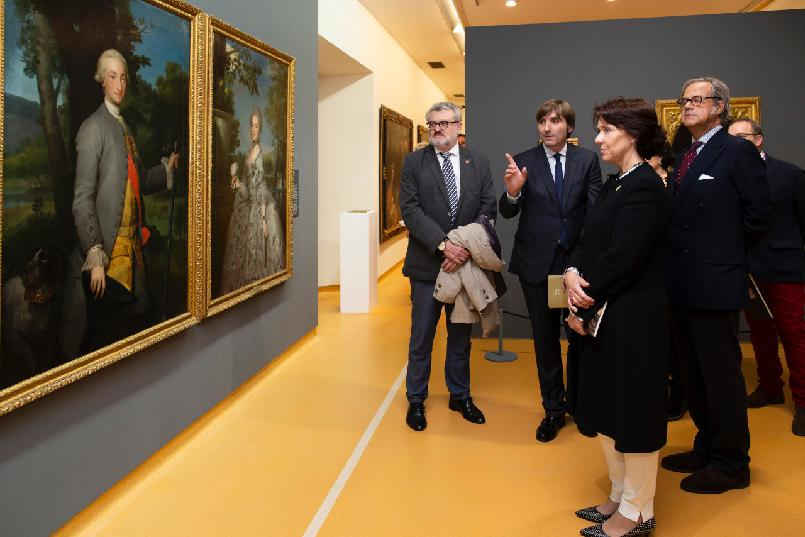 "Opening of the exhibition entitled ""Habsburgs and Bourbons: Princes and Princesses of Asturias and Monarchs of Spain"" at the Fine Arts Museum of Asturias"