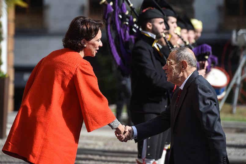 Llegada de Javier Solana, presidente del Real Patronato del Museo Nacional del Prado