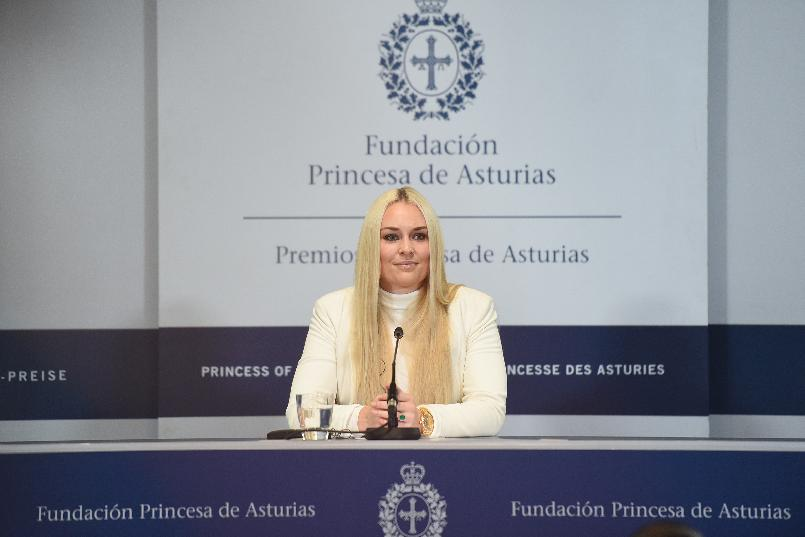 Press conference with Lindsey Vonn