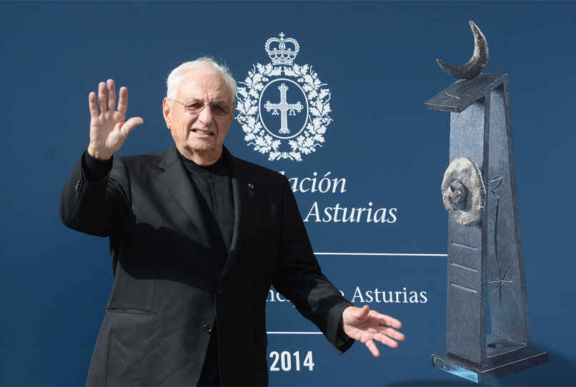 Arrival of Frank O. Gehry