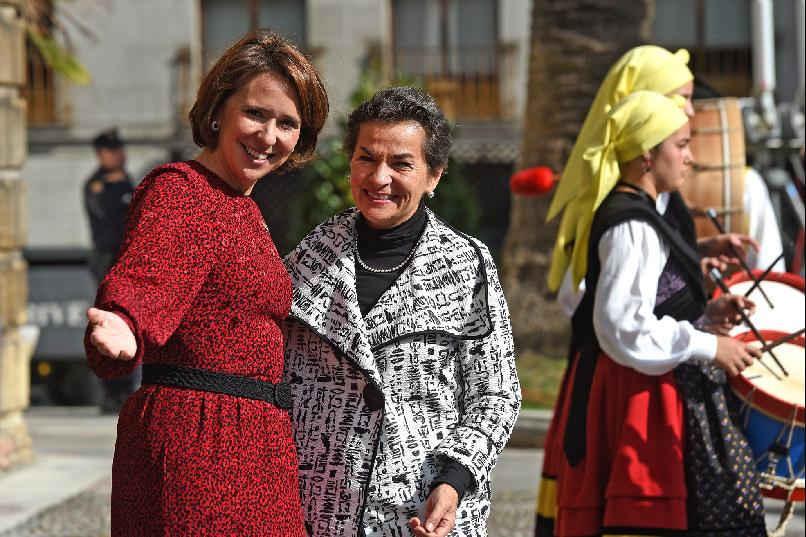 Llegada de Christiana Figueres