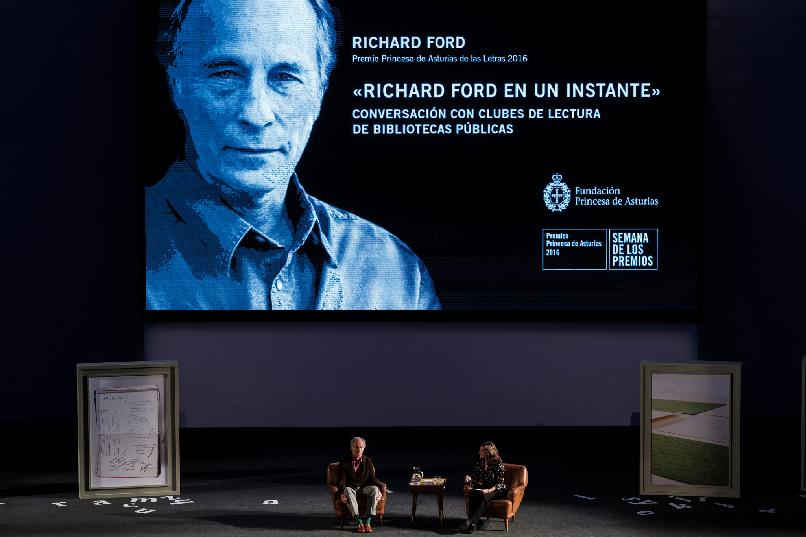 """Richard Ford in an Instant"". A conversation with book clubs"