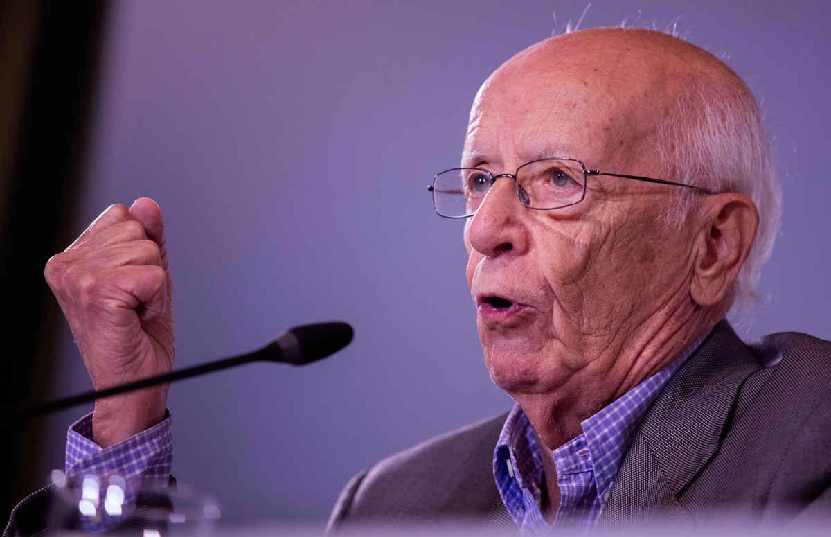Press conference with Emilio Lledó Íñigo